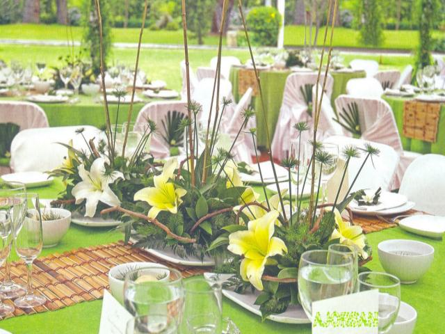 Decoracion para eventos y casamiento con centros de mesa de floreria