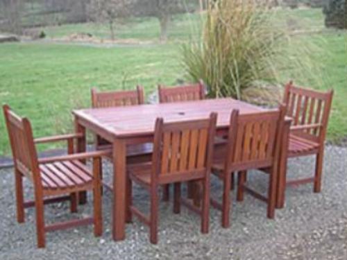 Mesas de jardin muebles de jardin for Sillas de madera para exterior