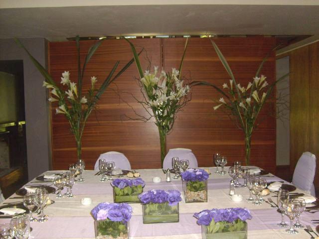 Decoracion de bodas - Decoracion mesa salon ...
