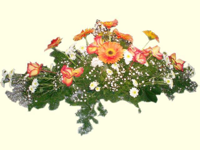 Centros mesa para boda ramo con flores artificiales hawaii - Decoracion de jarrones con flores artificiales ...