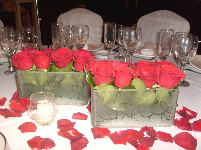 Centros De Mesa Rectangulares Con Rosas Venta De Centros De Mesa