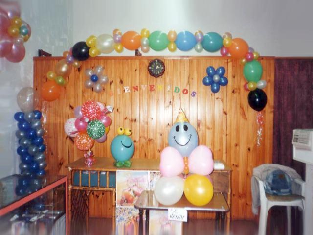 Fiestas infantiles for Decoracion con globos para cumpleanos